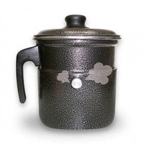 Leiteira Térmica de Alumínio Profissional Com Apito 2 Litros Hotel Café Chá Leite