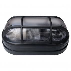 Luminária Arandela Tartaruga Externa Teto e Parede Soft Bocal E27 40W 250V Preta