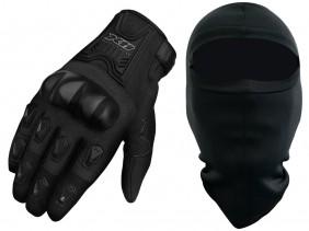 Luva X11 Blackout Feminina Com Proteção Com Touchscreen Motociclista + Balaclava