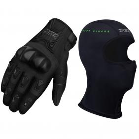 Luva X11 Blackout Feminina Com Proteção Com Touchscreen Motociclista + Balaclava Touca Ninja X11 Segunda Pele