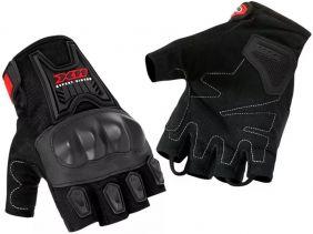 Luva X11 Blackout Meio Dedo Com Proteção Motociclista