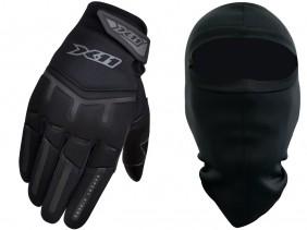 Luva X11 FIT X Preta Motociclista Com Função Touchscreen + Balaclava