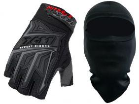Luva X11 Nitro 3 Meio Dedo Motocross e Bike + Balaclava