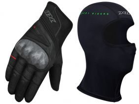 Luva X11 Tatic X Com Proteção Ventilada Lançamento 2019 + Balaclava X11 Touca Ninja Térmica