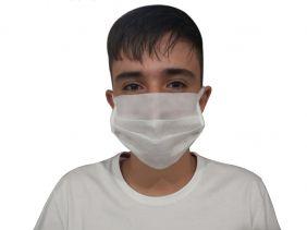 Máscara de Proteção Facial Á Prova d'Água Com Elástico Descartável
