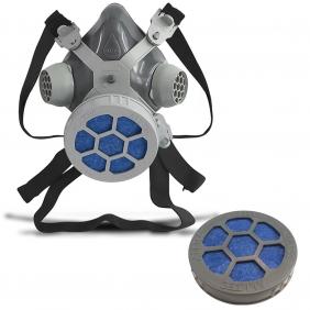 Máscara Respirador 1/4 Facial Mastt Alltec 2001 P2 Filtro de Uma Via Pintura Poeira Gases Nevoas Vapores + 01 Cartucho Filtro P2