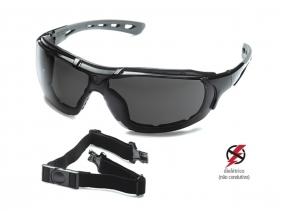 Óculos De Proteção UV Steelflex Anti Embaçante Tático Ciclista Motociclista Roma Ca 40903 ANSI Z87.1-2015