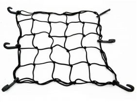Rede Elástica Aranha Bagageiro Bauleto Moto Capacete Preta
