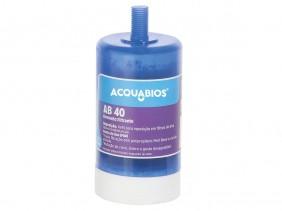 Refil Para Filtro Purificador de Água Multiuso AB40 Rosca Curta Acquabios