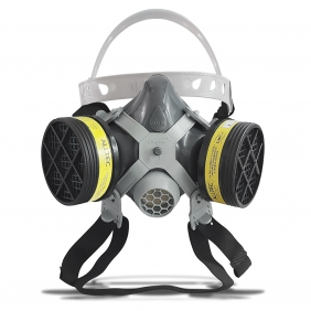 Máscara Respirador 1/4 Facial Mastt Alltec 2002 VO-GA Filtro de Duas Vias Pintura Poeira Gases Nevoas Vapores