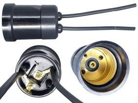 Soquete Com Rabicho Para Lâmpada Bulbo E27 250V 2A Preto