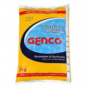 Sulfato de Alumínio Decantador e Clarificante Para Piscinas 2 Kg Genco
