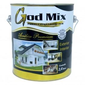 Tinta Acrílica Linha Premium Branco Fosco 3,6 Litros God Mix
