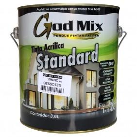 Tinta Gessotex Látex Acrílica Standard 3,6 Litros Branco Fosco God Mix