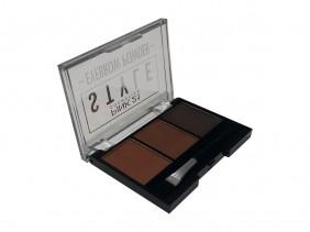 Paleta de Sombras Style Eyebrow Powder Trio Para Sobrancelhas Makeup CS2308