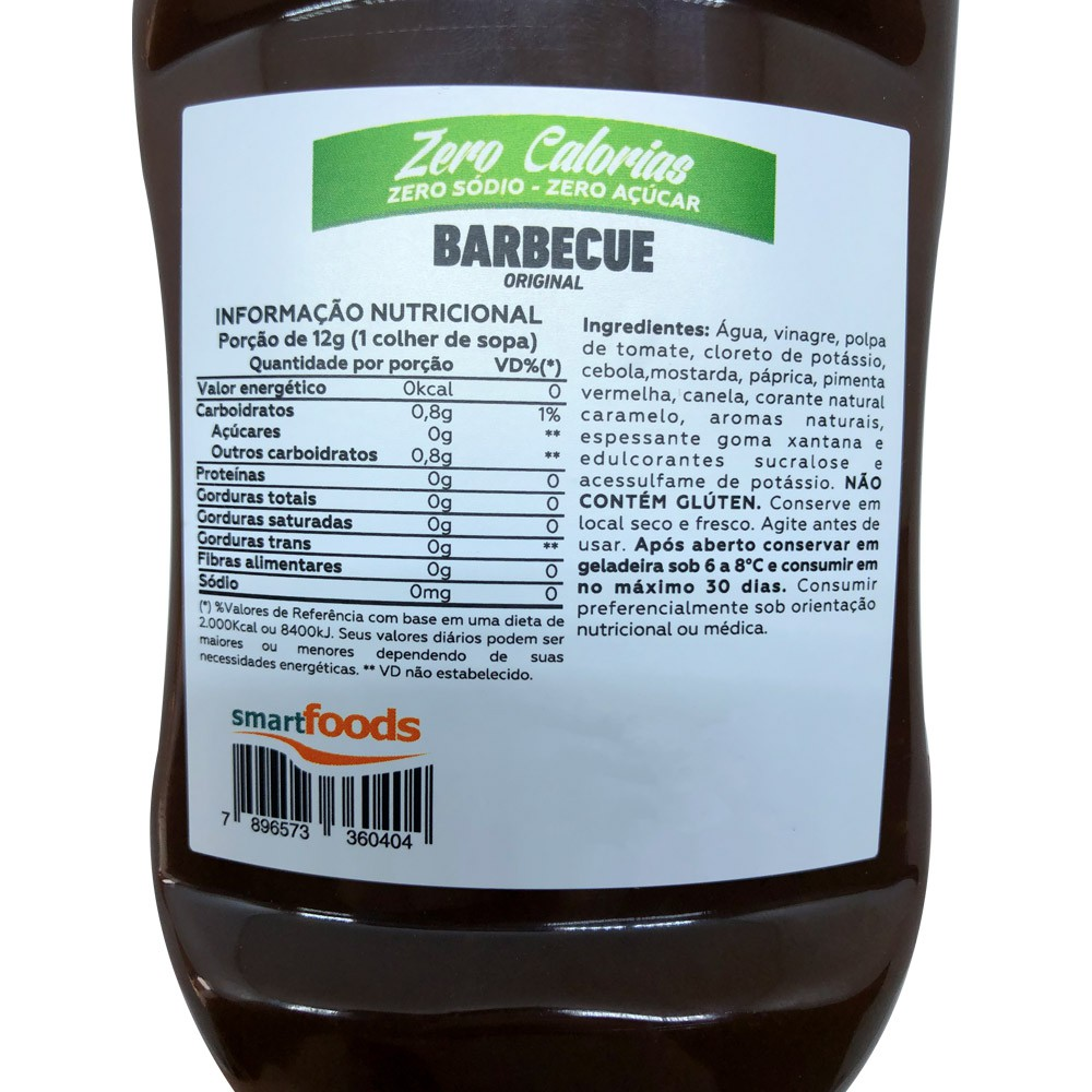 Barbecue Zero Sódio Zero Açúcar Zero Cal Mrs. Taste 350g  - EPM Acessórios