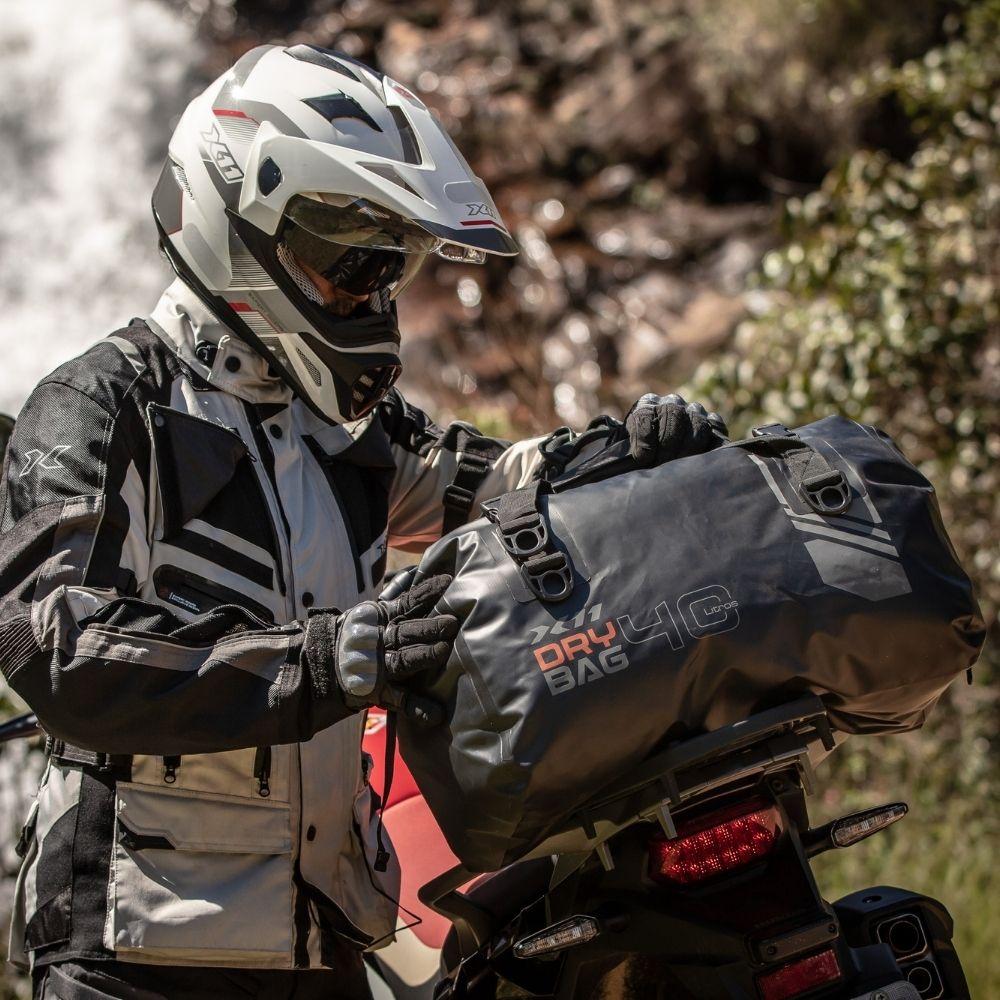 Bolsa Mala de Viagem Mochila X11 Drybag 40L Modelo Rolltop 100% Impermeável Motociclista Ciclista