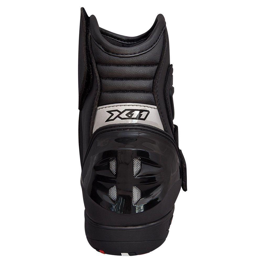Bota X11 Race Sport Cano Curto em Couro Motociclista Motoqueiro  - EPM Acessórios