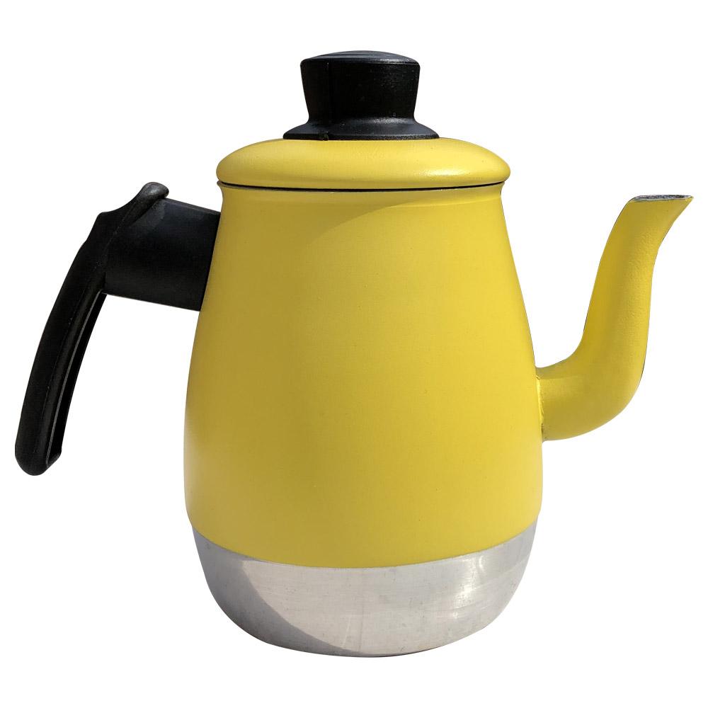 Bule Para Café Leite e Chá de 1,2 Litros Em Alumínio Reforçado Com Tampa e Bico Longo