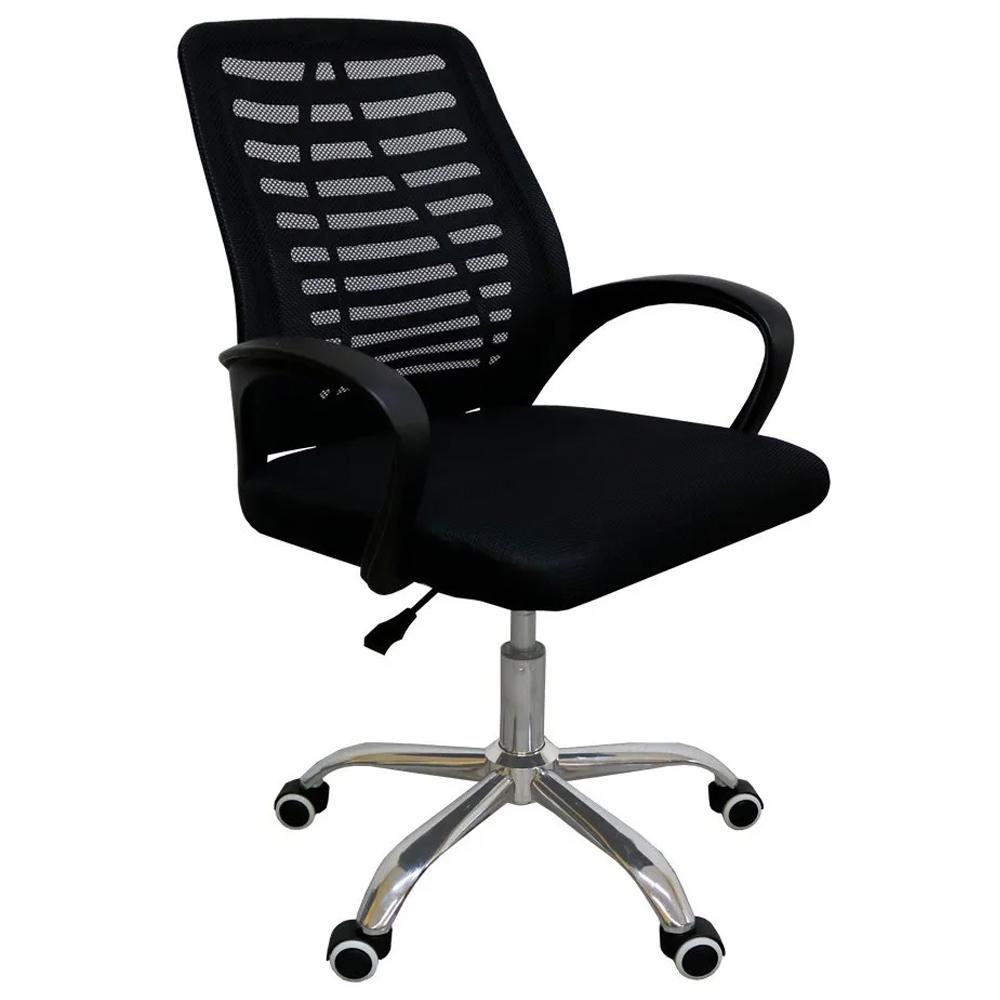 Cadeira de Escritório Preta Giratória OC005 Executiva Profissional Secretaria Reunião
