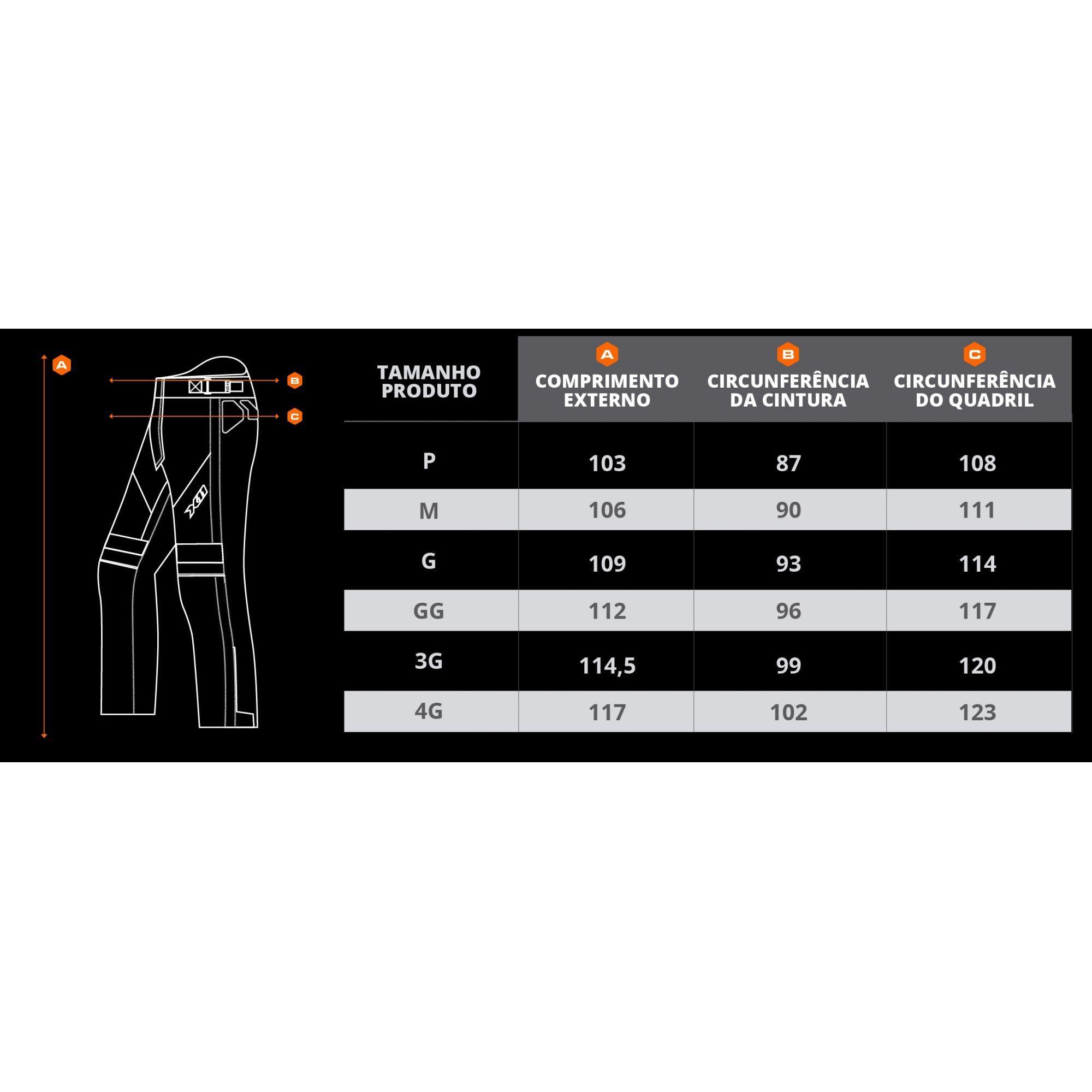 Calça X11 Ultra 2 Masculina Impermeável Com Proteção Motociclista
