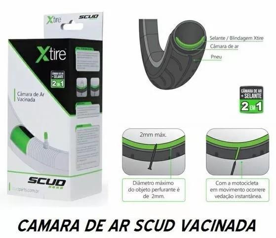 Câmara de Ar Vacinada Moto Aro 14 Traseira + Aro 17 Dianteira