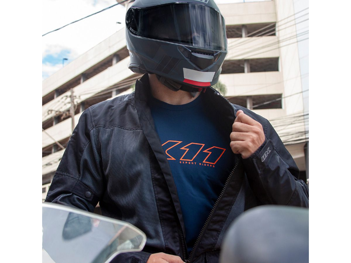 Camiseta X11 Underjacket Azul Gola Redonda Manga Curta Motociclista Ciclista  - EPM Acessórios
