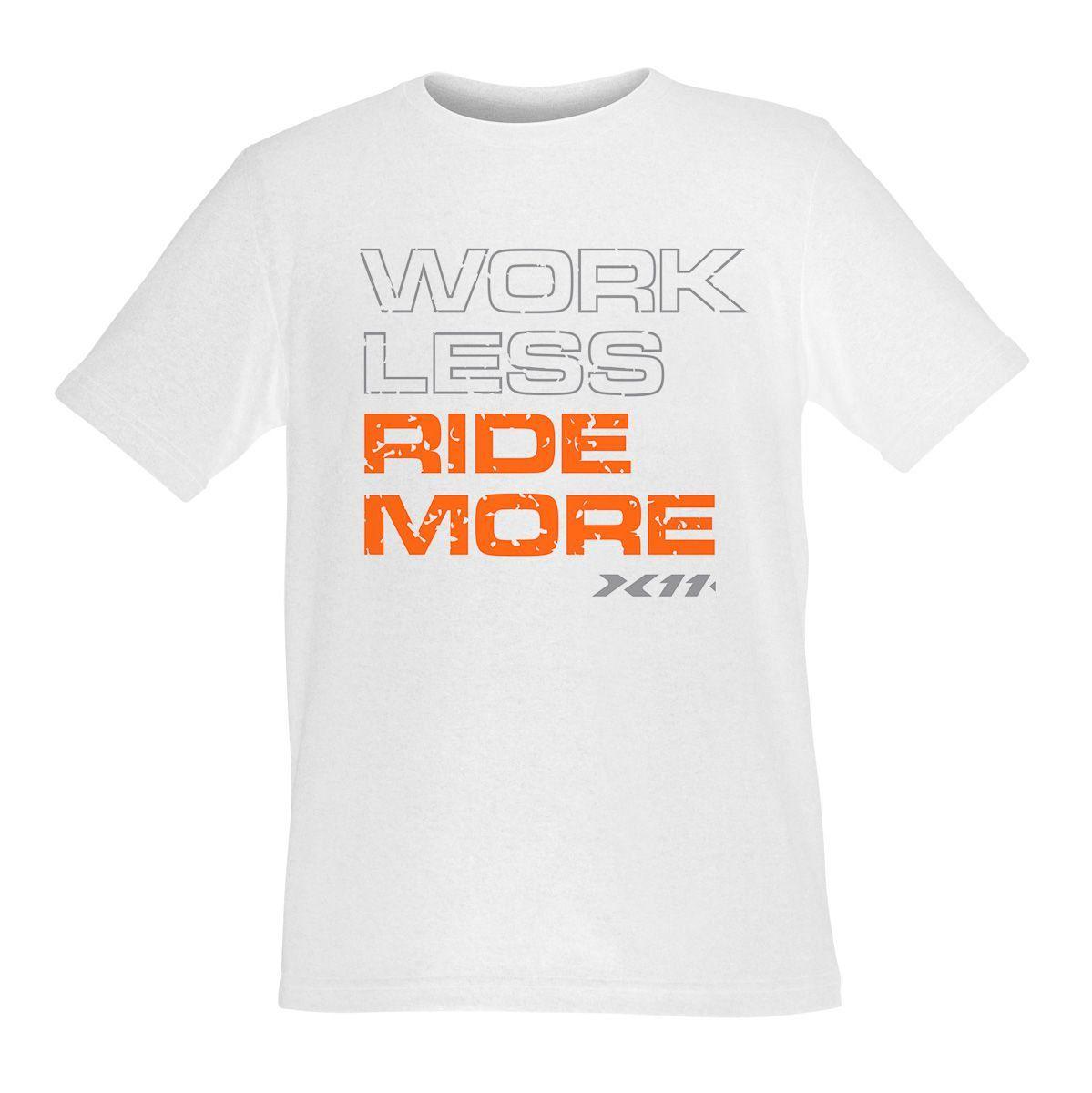 Camiseta X11 Ridemore Branca Algodão Manga Curta Gola Redonda Motociclista Ciclista  - EPM Acessórios