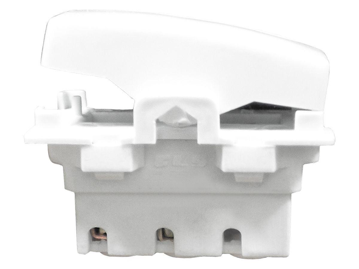 Campainha Pulsador 1 Tecla Com Espelho Branco Linha Dubai Bivolt 127v e 250v
