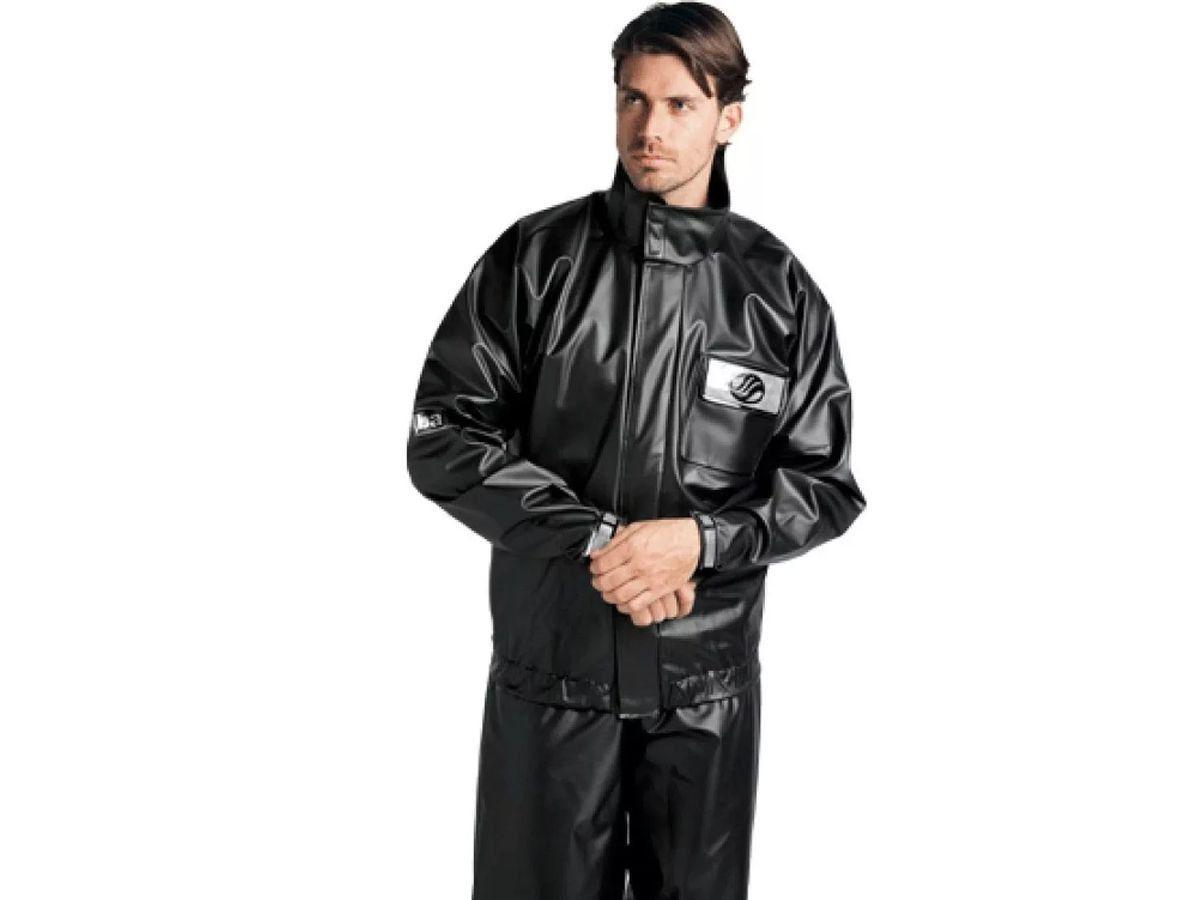 Capa de Chuva Alba Europa PVC 100% Impermeável Motociclista Motoboy Motoqueiro Ciclista