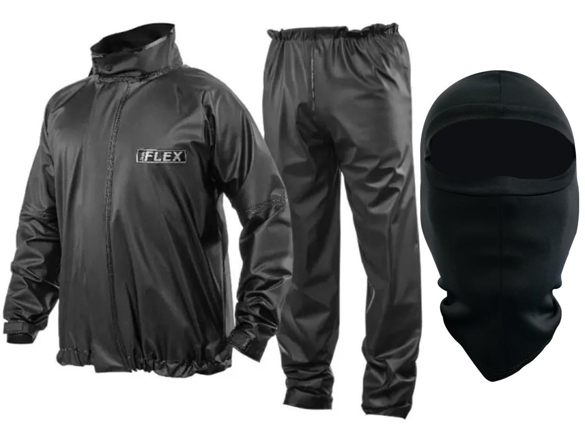 Capa de Chuva Delta Flex PVC Motociclista Motoboy + Balaclava