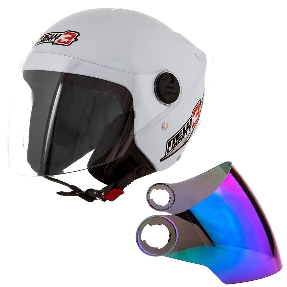 Capacete Pro Tork New Liberty Three 3 Moto Motoqueiro Motoboy + Viseira Camaleão