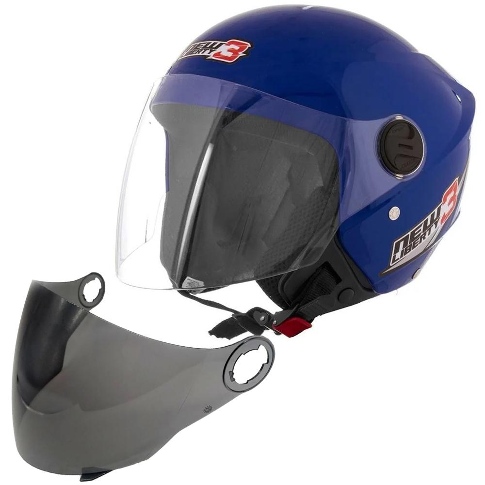 Capacete Pro Tork New Liberty Three 3 Moto Motoqueiro Motoboy + Viseira Fumê