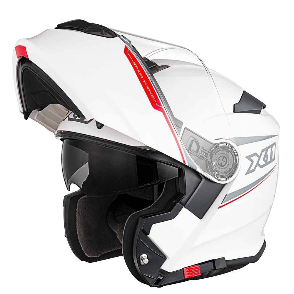 Capacete X11 Turner Articulado Com Viseira Interna Proteção Solar Motoqueiro Motociclista