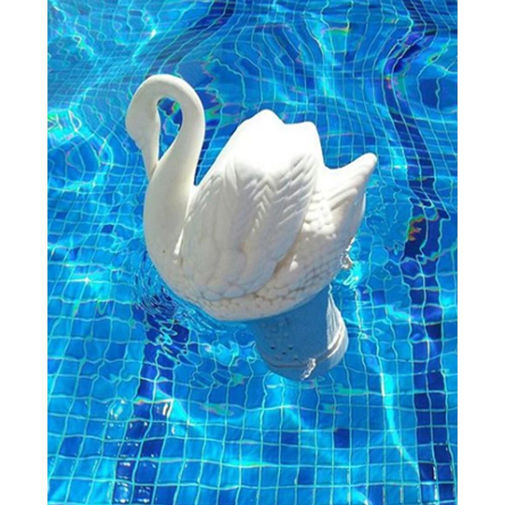 Clorador Flutuante Cisne Para Piscinas Suporte de Pastilha de Cloro Genco  - EPM Acessórios