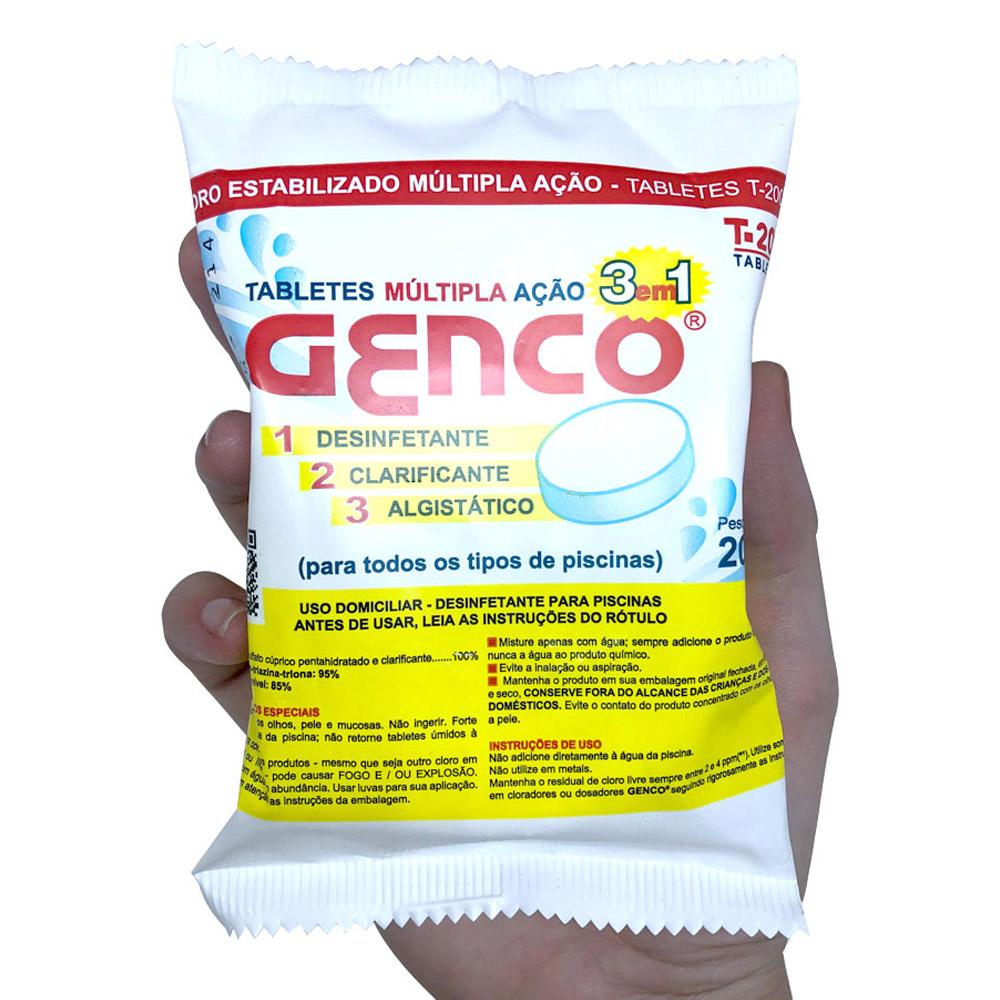 Clorador Flutuante Cisne Para Piscinas Suporte + 10 Tabletes Pastilha de Cloro 3 em 1 Genco