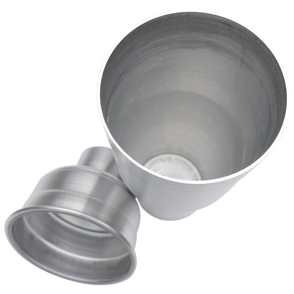 Coqueteleira em Alumínio Drinks Coquetéis Bebidas 800ml - Copo 650ml Tampa 150ml