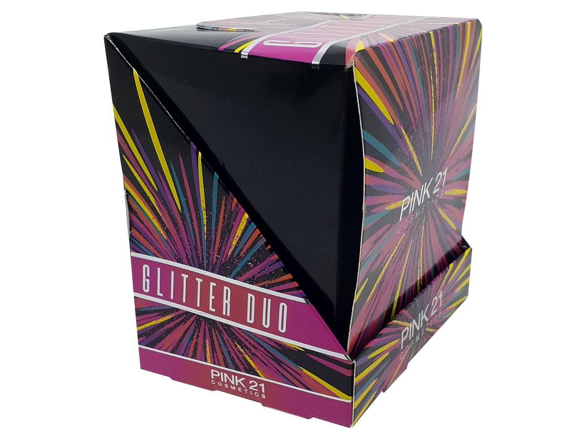 Kit 6 Delineador Líquido Duo Cremoso Cintilante e Glitter Para Olhos Makeup B Cores Festa CS2360