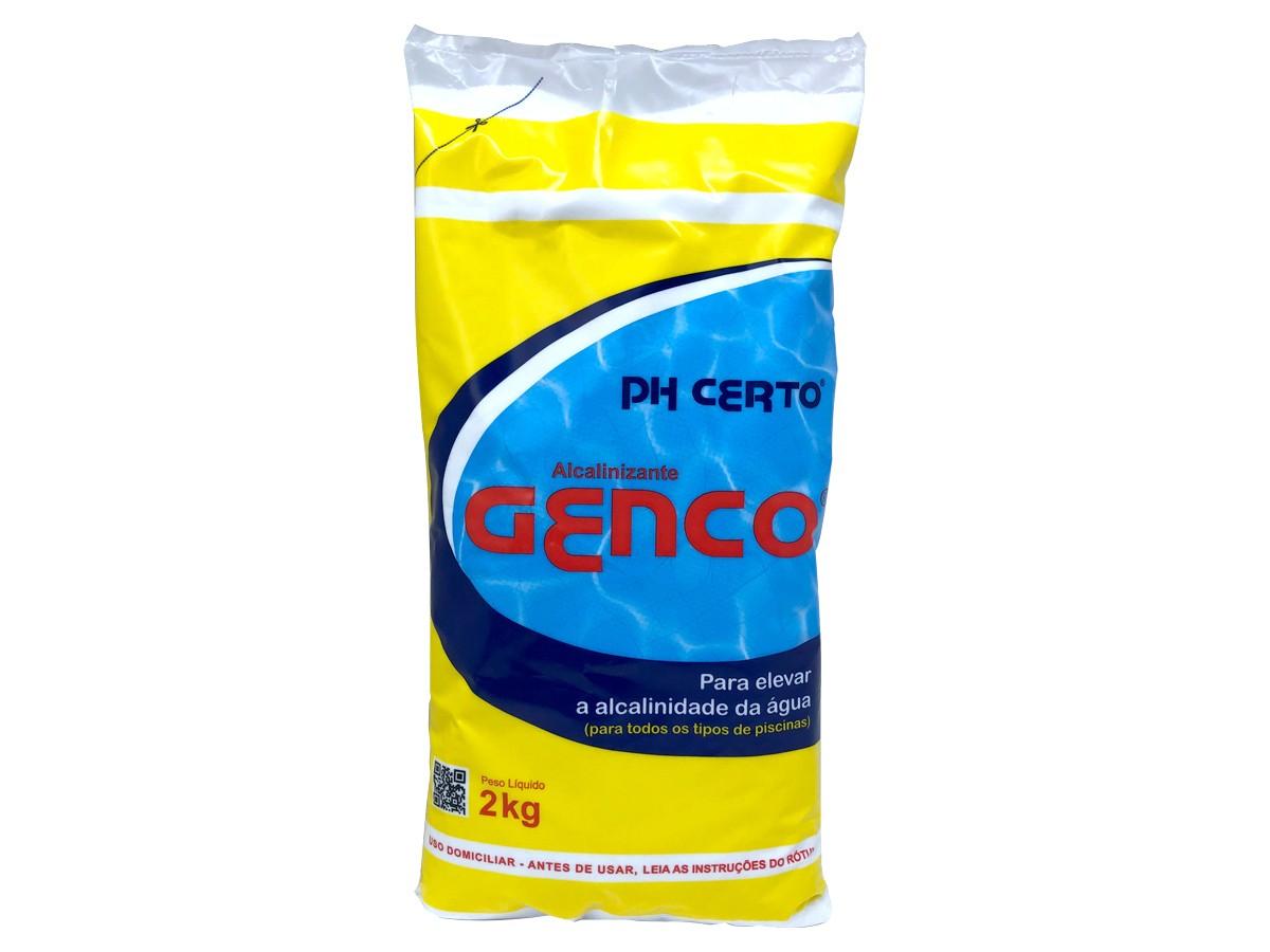Elevador de Alcalinidade PH CERTO Granulado Alcalinizante Para Piscinas Genco 2 kg