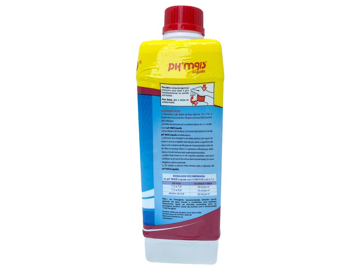 Elevador de Ph Para Piscinas Líquido Genco 1 Litro Ph+ Mais Eleva Ajusta