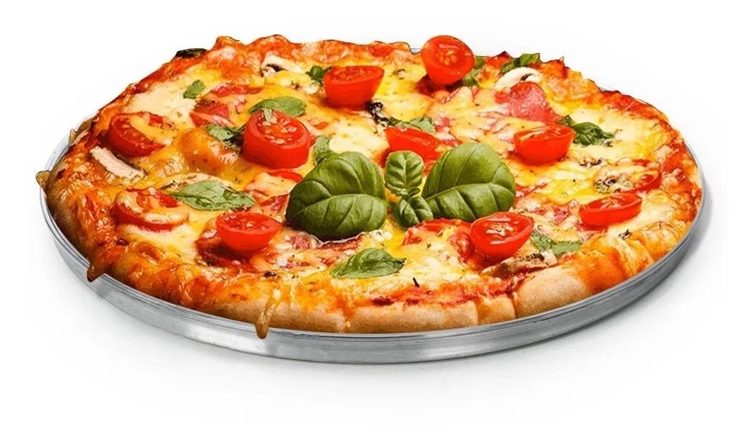 Forma Redonda Para Pizza em Assadeira Alumínio Borda Baixa Reforçada N° 1 Tamanho 25cm  - EPM Acessórios