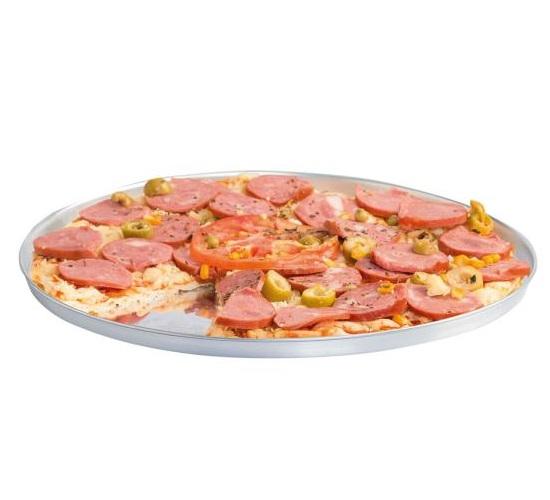 Forma Redonda Para Pizza em Assadeira Alumínio Borda Baixa Reforçada N° 3 Tamanho 35cm  - EPM Acessórios