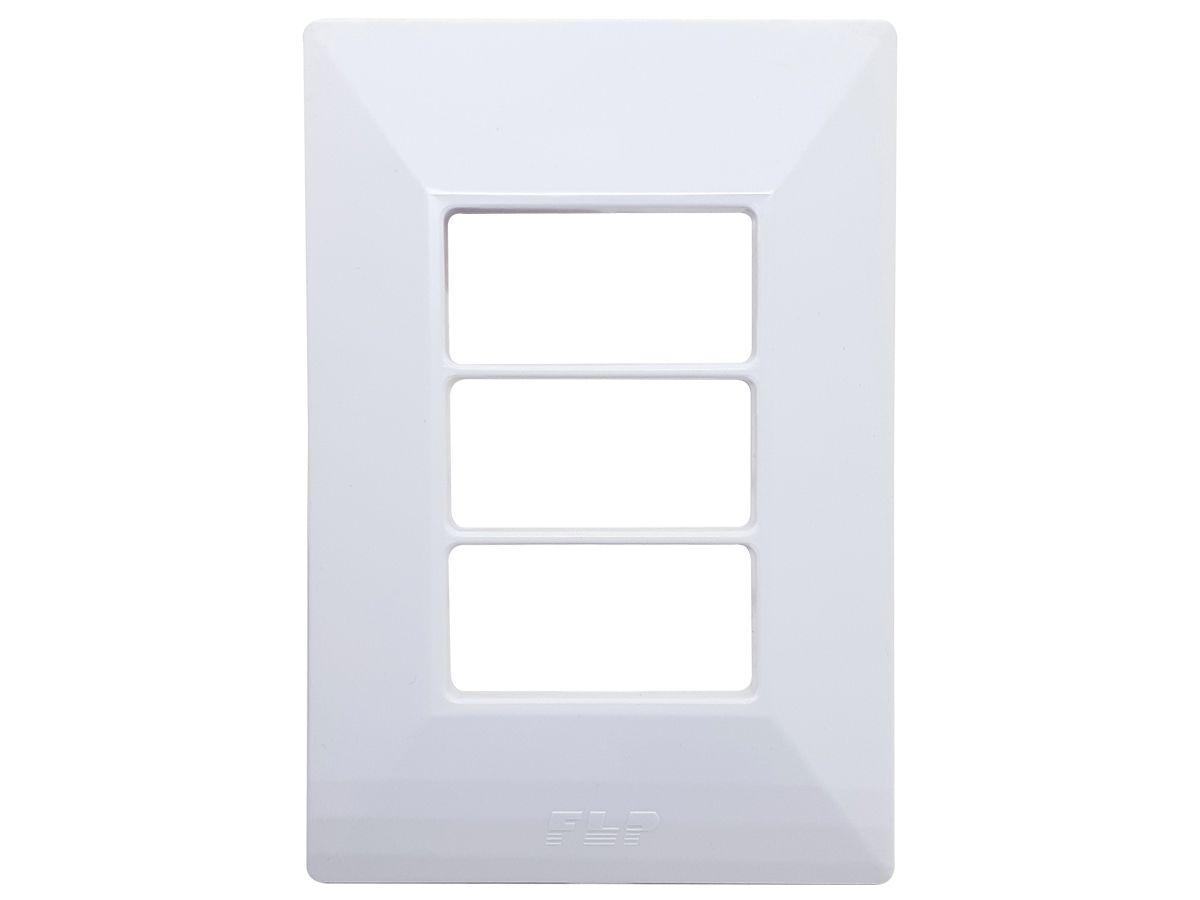 Interruptor Simples 1 Tecla + 2 Tomadas 10A 2p+t Com Espelho Branco Linha Dubai Bivolt 127v e 250v