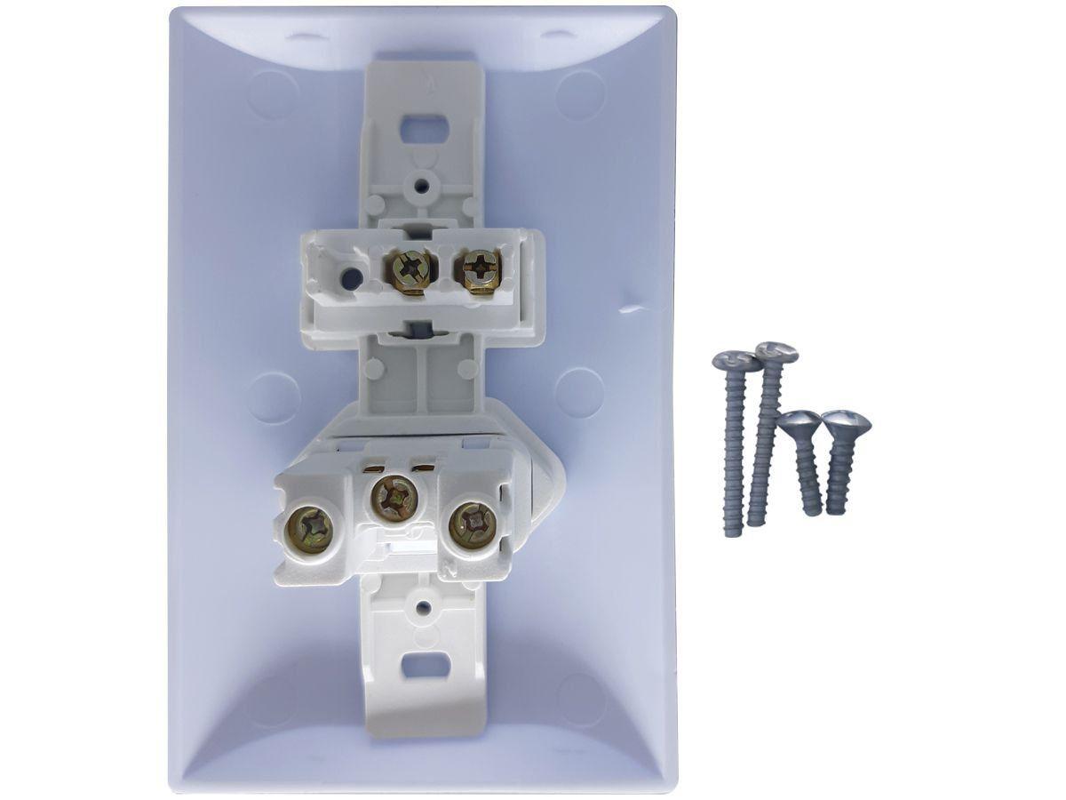 Interruptor Simples 1 Tecla + Tomada 20A 2p+t Com Espelho Branco Bivolt 127v e 250v