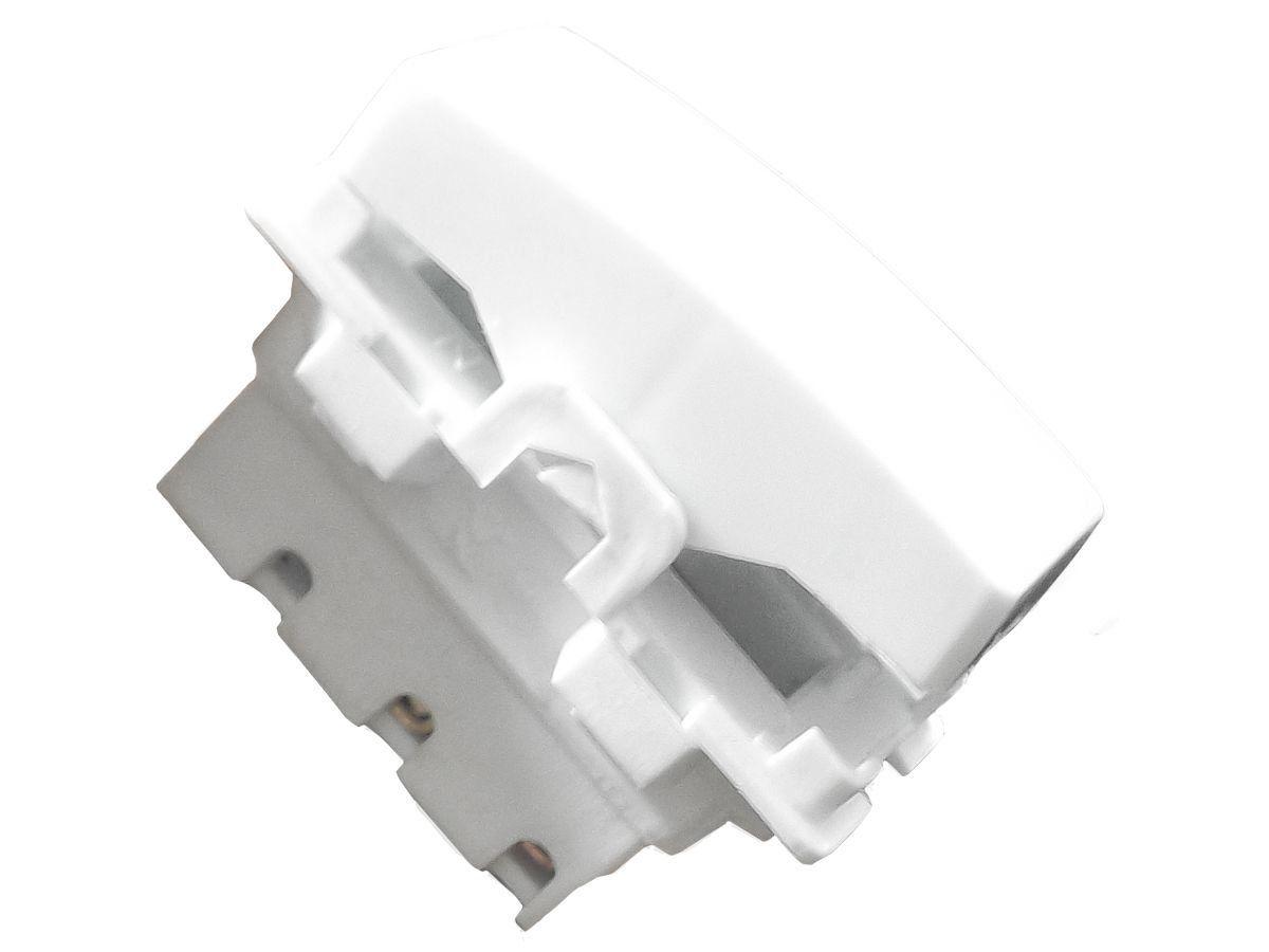 Interruptor Simples 1 Tecla + Tomada 20A 2p+t Com Espelho Branco Linha Dubai Bivolt 127v e 250v