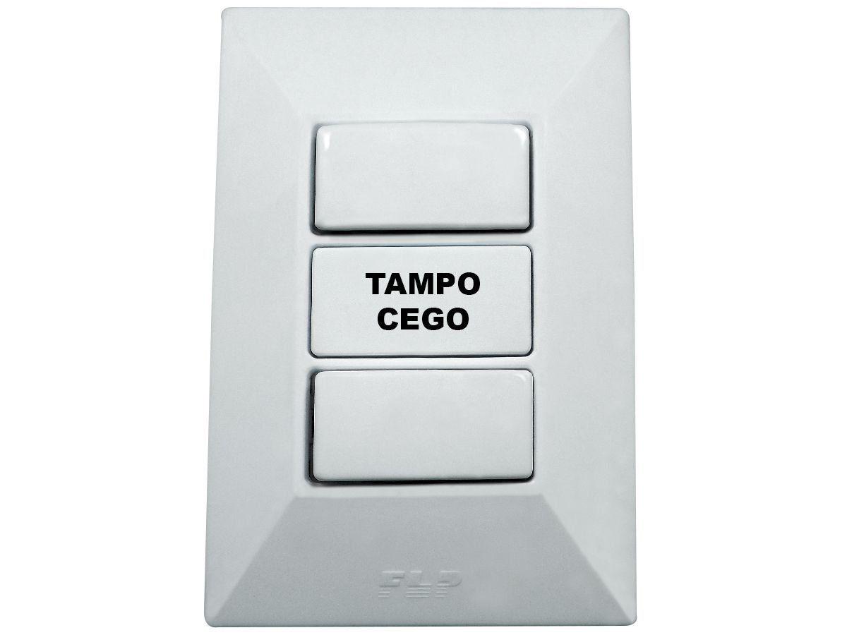Interruptor Simples 2 Teclas 10A Com Placa Espelho Branco Linha Dubai Bivolt 127v e 250v