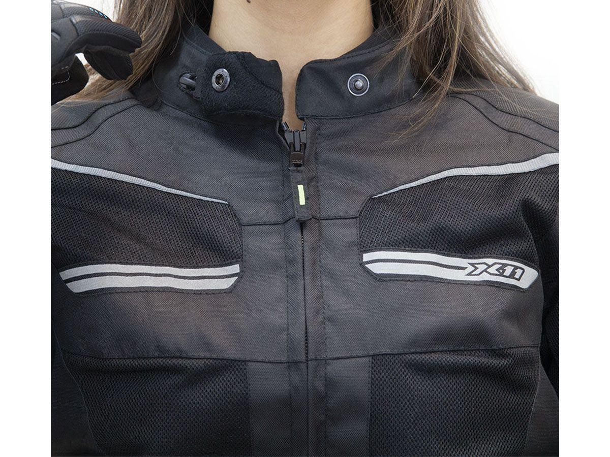 Jaqueta X11 Breeze Feminina Rosa Impermeável Motociclista Com Proteções