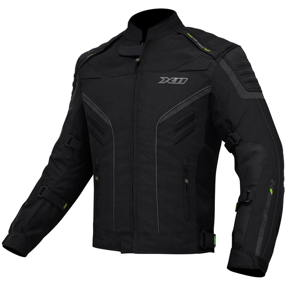 Jaqueta X11 Iron 2 Masculina Preta Impermeável + Calça X11 Troy 2 Masculina Motociclista