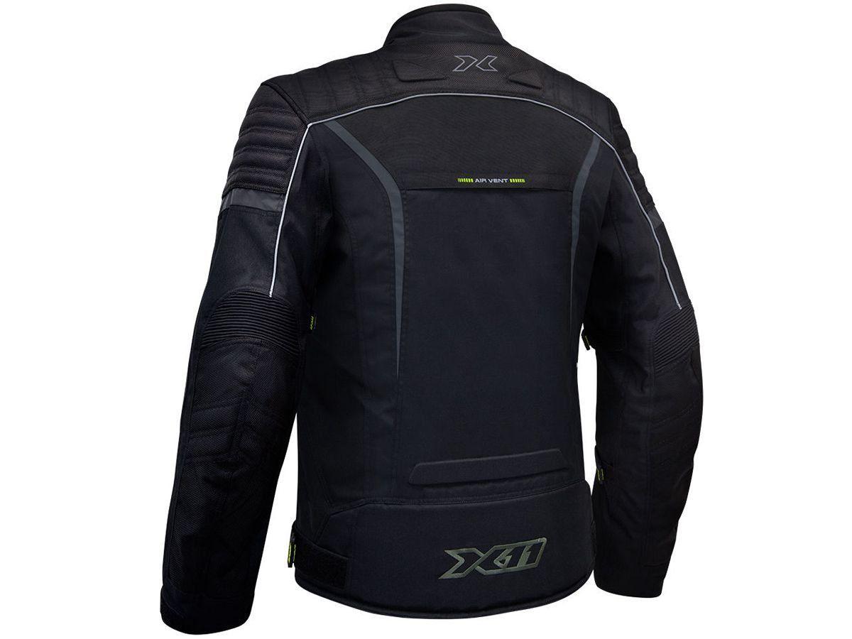 Jaqueta X11 Iron 2 Impermeável Nylon Preta Motociclista Motoqueiro