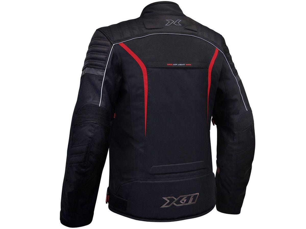 Jaqueta X11 Iron 2 Impermeável Nylon Vermelha Motociclista Motoqueiro